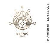 sacred geometric shape logo....   Shutterstock .eps vector #1276687276