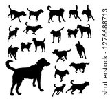 set of dog silhouettes. vector | Shutterstock .eps vector #1276688713