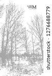 winter landscape. trees in the... | Shutterstock .eps vector #1276688779