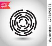 fingerprint icon. scan icon.... | Shutterstock .eps vector #1276690576