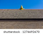 Tile Roof Of Thai Temple In...