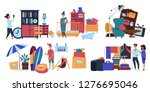 garage sale person seller... | Shutterstock .eps vector #1276695046