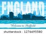 sheffield united kingdom city...   Shutterstock .eps vector #1276695580