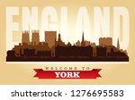 york united kingdom city...   Shutterstock .eps vector #1276695583