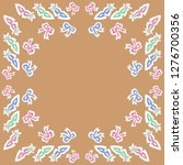 pattern of bows  venetian masks ... | Shutterstock . vector #1276700356