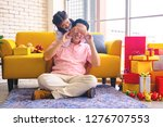 young asia dad and daughter in... | Shutterstock . vector #1276707553