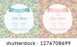 set of baby shower invitation... | Shutterstock .eps vector #1276708699
