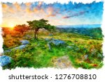 watercolour painting of... | Shutterstock . vector #1276708810