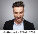 portrait of surprised casual...   Shutterstock . vector #1276713700