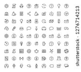support flat icon set. single... | Shutterstock .eps vector #1276714213