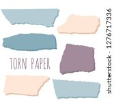 pieces of torn colorful paper... | Shutterstock .eps vector #1276717336