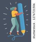 vector cartoon illustration of... | Shutterstock .eps vector #1276721506