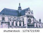 paris saint eustace church at... | Shutterstock . vector #1276721530