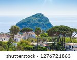 giant rock with green trees on... | Shutterstock . vector #1276721863