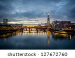 a view from the london skyline... | Shutterstock . vector #127672760