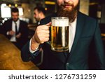 cut view of bearded man in suit ... | Shutterstock . vector #1276731259