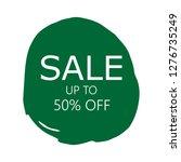 sale 50  off sign over art...   Shutterstock .eps vector #1276735249
