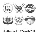 beer lover badges. valentines... | Shutterstock .eps vector #1276737250