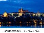 Night View Of Prague   River...