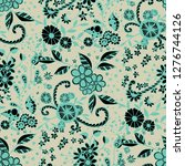 seamless pattern with little... | Shutterstock .eps vector #1276744126