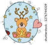 illustration with teddy bear... | Shutterstock .eps vector #1276744339