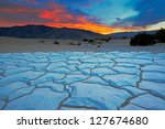 sunset from mesquite flat sand... | Shutterstock . vector #127674680