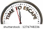 time to escape get out away...   Shutterstock . vector #1276748236