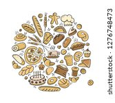 bakery collection  sketch for... | Shutterstock .eps vector #1276748473