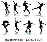 silhouette and shadows of... | Shutterstock .eps vector #127675304