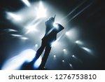 singer   vocalist performing on ...   Shutterstock . vector #1276753810