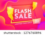 flash sale hot advertising... | Shutterstock .eps vector #1276760896