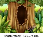 illustration of a big trunk of... | Shutterstock .eps vector #127676186