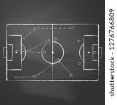 drawn with chalk the football... | Shutterstock .eps vector #1276766809