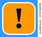 exclamation mark icon warning... | Shutterstock .eps vector #1276768096