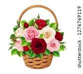 vector basket with red ... | Shutterstock .eps vector #1276769119