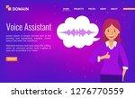voice assistant. landing page...