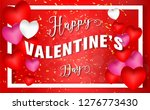 valentines day. 3d red pink... | Shutterstock .eps vector #1276773430