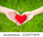 Man And Woman Heart Shape Hand...