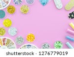 bottles of colorful nail... | Shutterstock . vector #1276779019