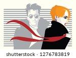 fashion woman in style pop art. | Shutterstock .eps vector #1276783819