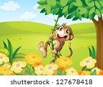 illustration of a monkey...   Shutterstock .eps vector #127678418