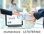 close up. business colleagues... | Shutterstock . vector #1276785460