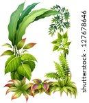 Illustration Of Leafy Plants O...