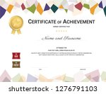 certificate template in... | Shutterstock .eps vector #1276791103