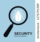 virus search. magnifying glass... | Shutterstock .eps vector #1276791589