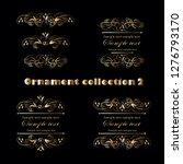 golden ornament elements on a... | Shutterstock .eps vector #1276793170