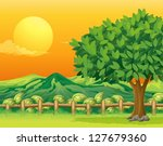 illustration of a tree and a... | Shutterstock .eps vector #127679360
