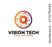 vision tech logo | Shutterstock .eps vector #1276794460