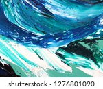 ocean waves .motion  painting... | Shutterstock . vector #1276801090
