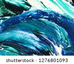 ocean waves .motion  painting... | Shutterstock . vector #1276801093
